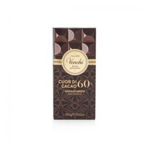 Cioccolato Venchi cuore cacao 60