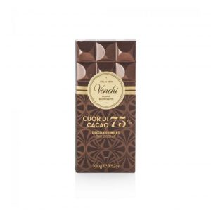 Cioccolato Venchi cuore cacao 75