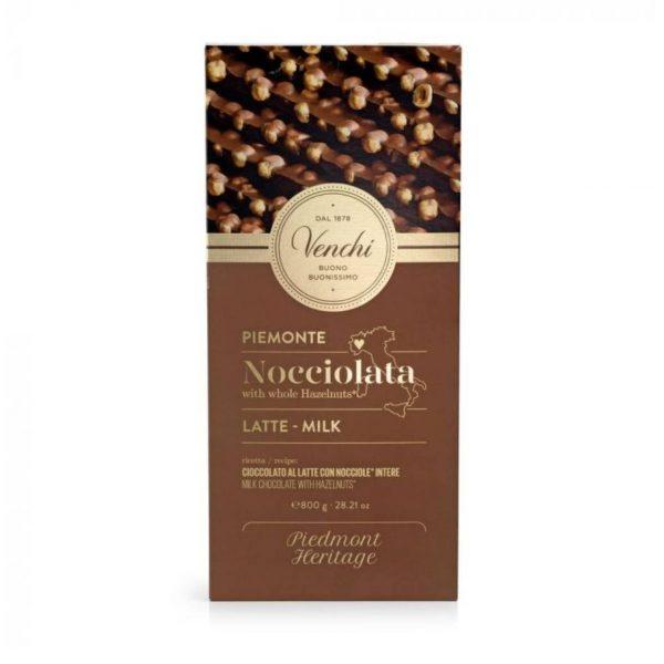 Tavoletta cioccolato al latte con nocciole Venchi