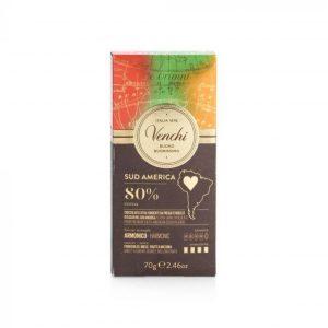 tavoletta cioccolato fondente sud america 80%