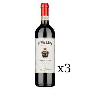 """Chianti Rùfina Riserva DOCG """"Nipozzano"""" 2017 Frescobaldi 750ml (3 Bottiglie)"""